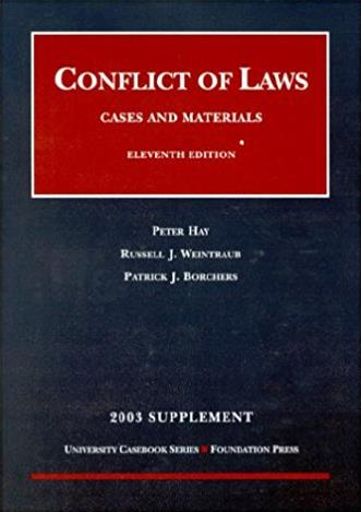 2003 Supplement to Conflicts of Law
