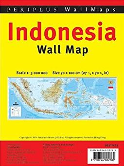 Indonesia Wall Map 1:3,000,000 Folded: Folded in Polybag (Wall Maps)