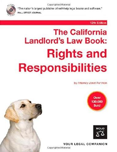 The California Landlord's Law Book: Rights & Responsibilities. Book with CD-Rom (12th edition)