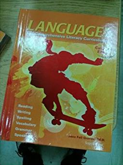 Language the Comprehensive Literacy Curriculum, California Edition